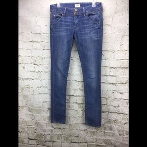 "Hudson Collin Flap Skinny 12"" Leg Opening Jeans"